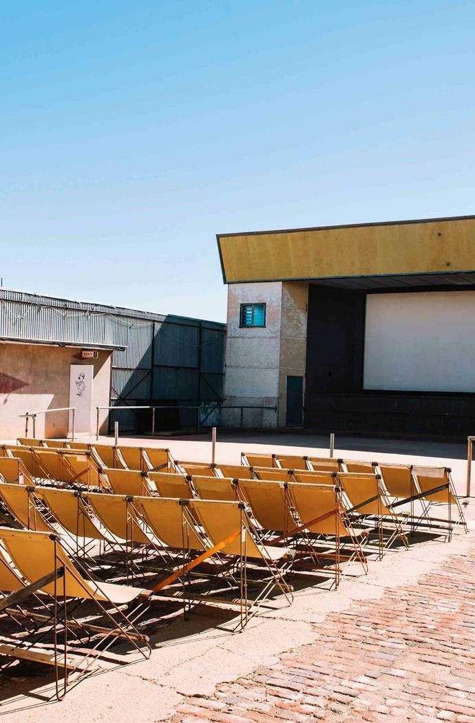 Winton's Royal Theatre, a historic open-air cinema.