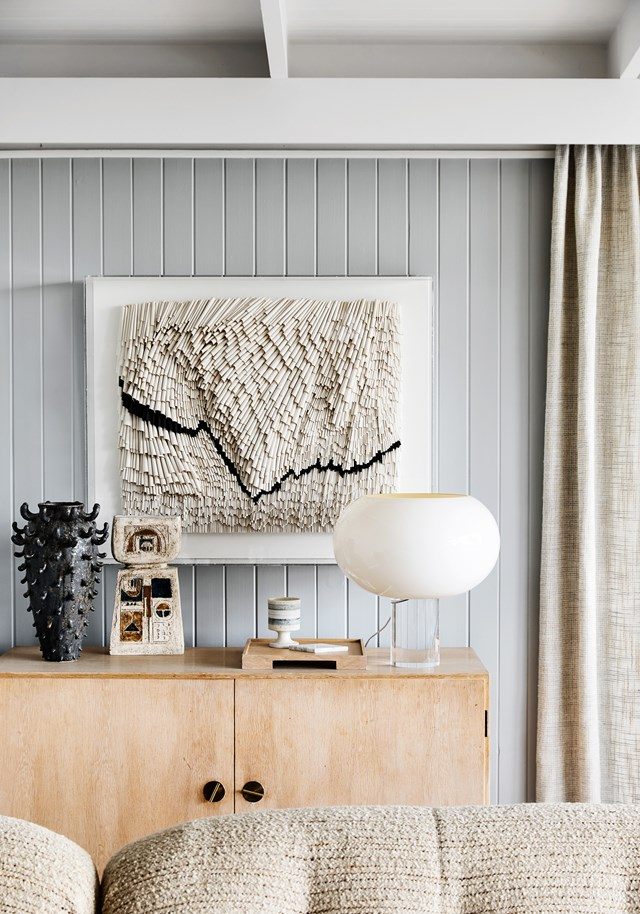 "This vintage artwork is one of interior stylist [Simone Haag's favourite pieces in her home](https://www.homestolove.com.au/simone-haag-house-20778|target=""_blank""). ""I was in a cab on the way to the airport and spotted it while at a traffic light. I had the cab pull over and made them an offer,"" she tells."