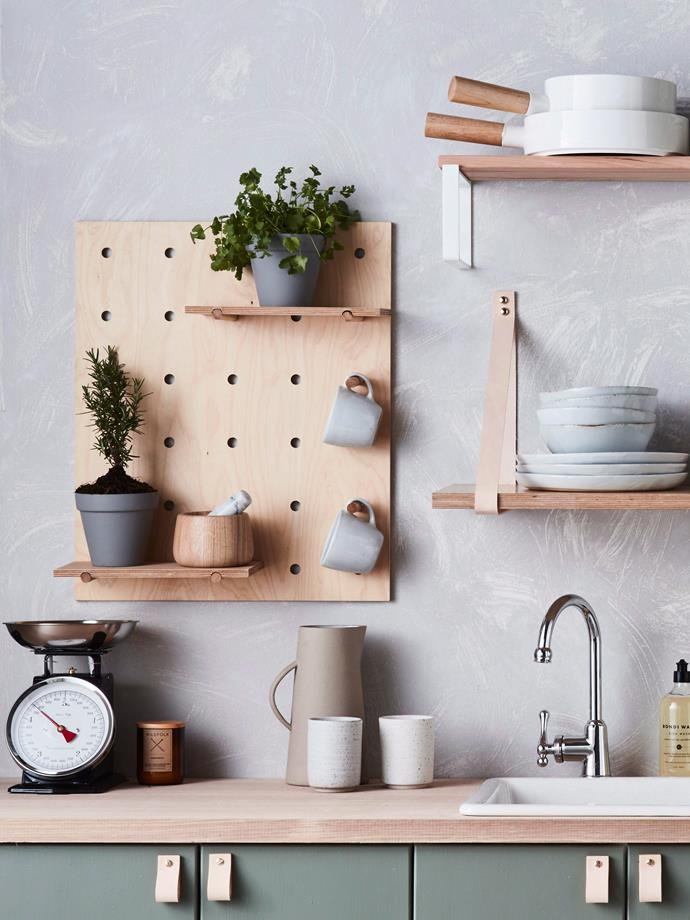 "Get crafty and make your own [renter-friendly DIY: wall shelves](https://www.homestolove.com.au/renter-friendly-diy-wall-shelves-without-nails-3867|target=""_blank"") without nails."