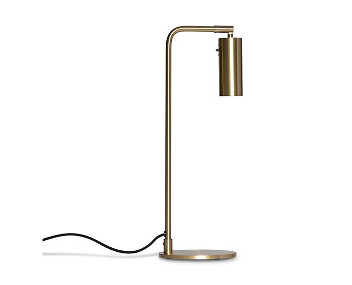 "Rubn Lighting 'Lektor' desk lamp, $1122, at [Fred International](https://fredinternational.com.au/brands/rubn-lighting/rubn-lighting/lektor-table target=""_blank"" rel=""nofollow"")"