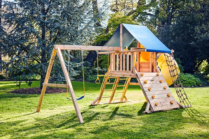 "[Swing Slide Climb Kosciuszko Play Set](https://www.bunnings.com.au/swing-slide-climb-kosciuszko-play-set_p3321587|target=""_blank""|rel=""nofollow""), $1499."