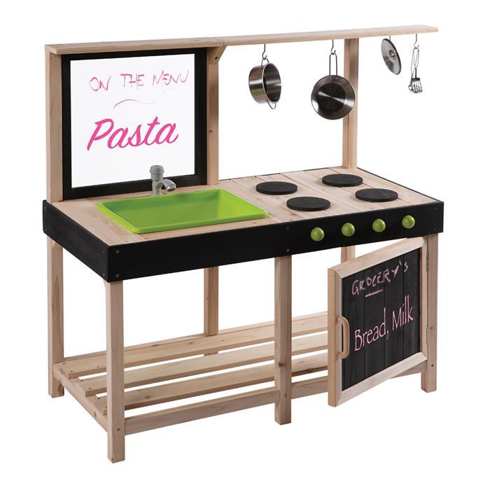 "[Swing Slide Climb Play Equipment Outdoor Kitchen](https://www.bunnings.com.au/swing-slide-climb-99-x-127-x-55cm-play-equipment-outdoor-kitchen_p0116705|target=""_blank""|rel=""nofollow""), $149."