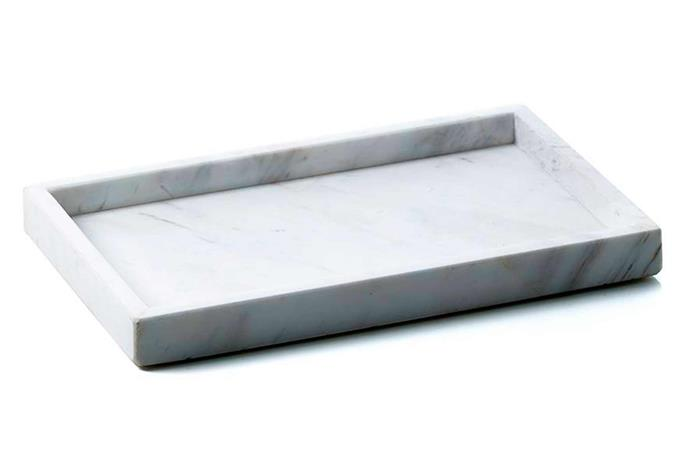 "Home Republic 'Eastside' rectangular marble tray, from $42, [Adairs](https://www.adairs.com.au/|target=""_blank""