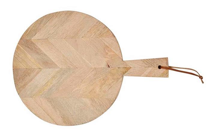 "Fleur chevron round cheeseboard, $115, [Globewest](https://www.globewest.com.au/|target=""_blank""|rel=""nofollow"")."