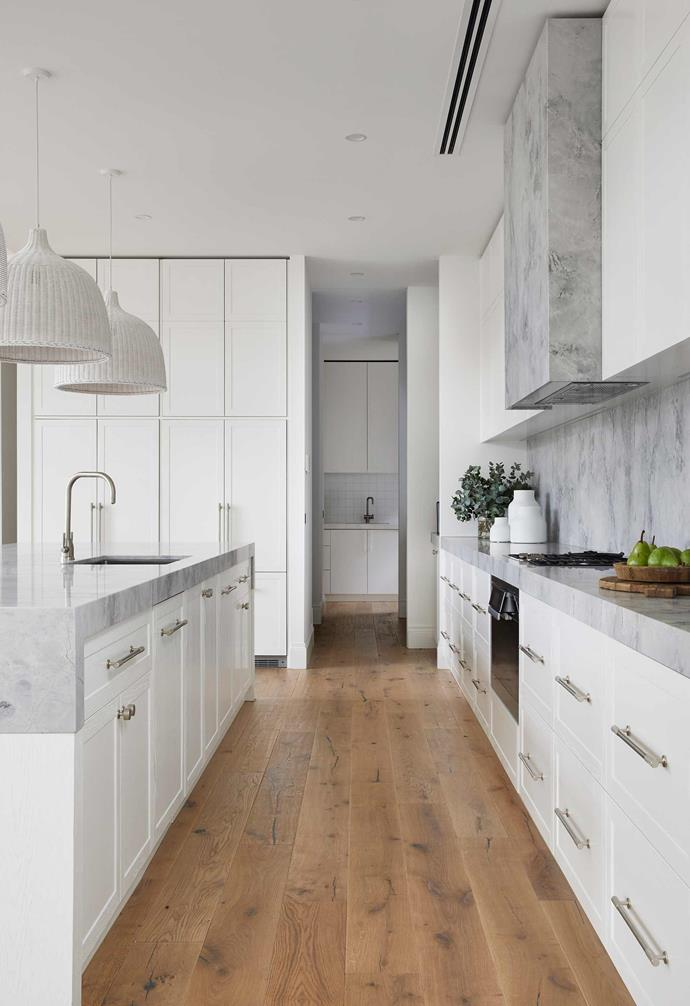 "**Kitchen** Five-star finishes abound, with Super White Dolomite stone through [KWD](https://www.katewalkerdesign.com.au/|target=""_blank""