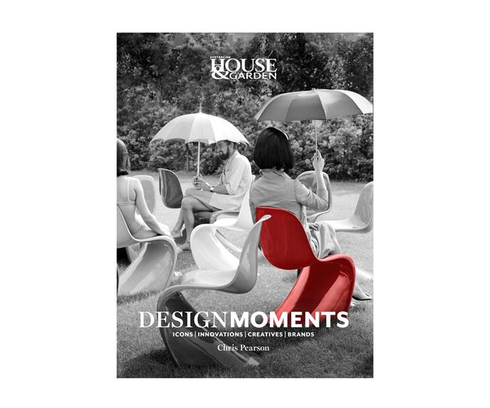 """Design Moments **book** by Chris Pearson, $39.99, at [Magshop](https://www.magshop.com.au/design-moments