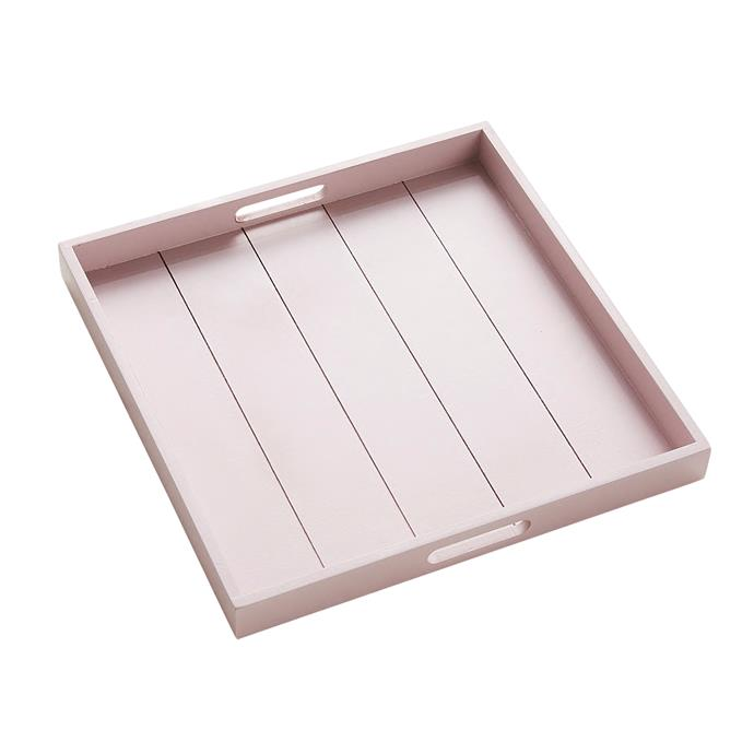 "Darwin tray in Blush, $34.95, [Provincial Home Living](https://www.provincialhomeliving.com.au/|target=""_blank""