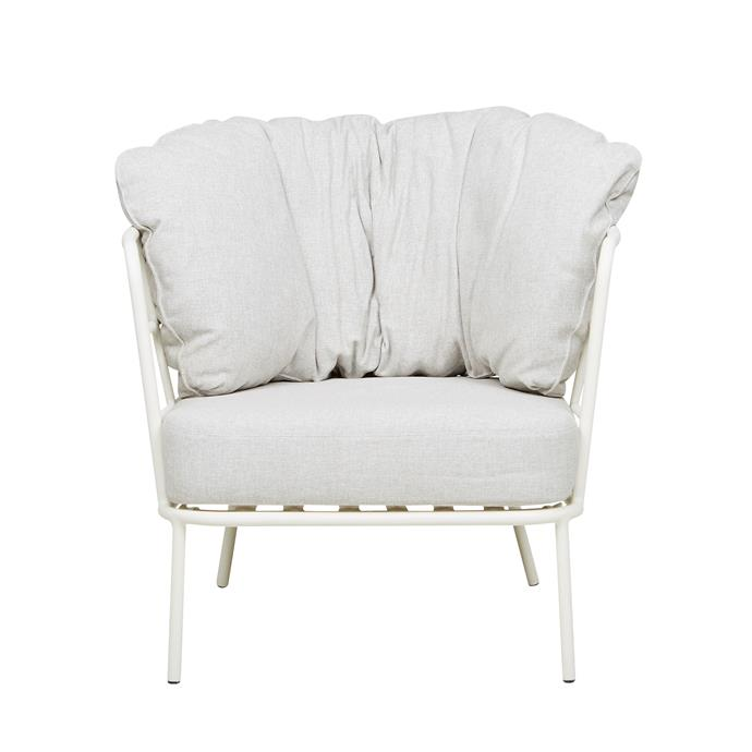 "Lyon 1-seater sofa in White/Oyster, $1720, [GlobeWest](https://www.globewest.com.au/|target=""_blank""