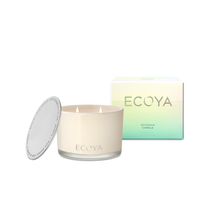 "Citronella & Lemongrass Outdoor Candle, $42.95, [Ecoya](https://www.ecoya.com.au/collections/ecoya-outdoor-candle/products/new-citronella-lemongrass-outdoor-candle|target=""_blank""