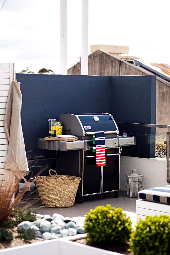 "If space permits, a rooftop terrace is the perfect spot to set up an [outdoor kitchen](https://www.homestolove.com.au/outdoor-kitchen-ideas-6227|target=""_blank"") at the very least a BBQ."