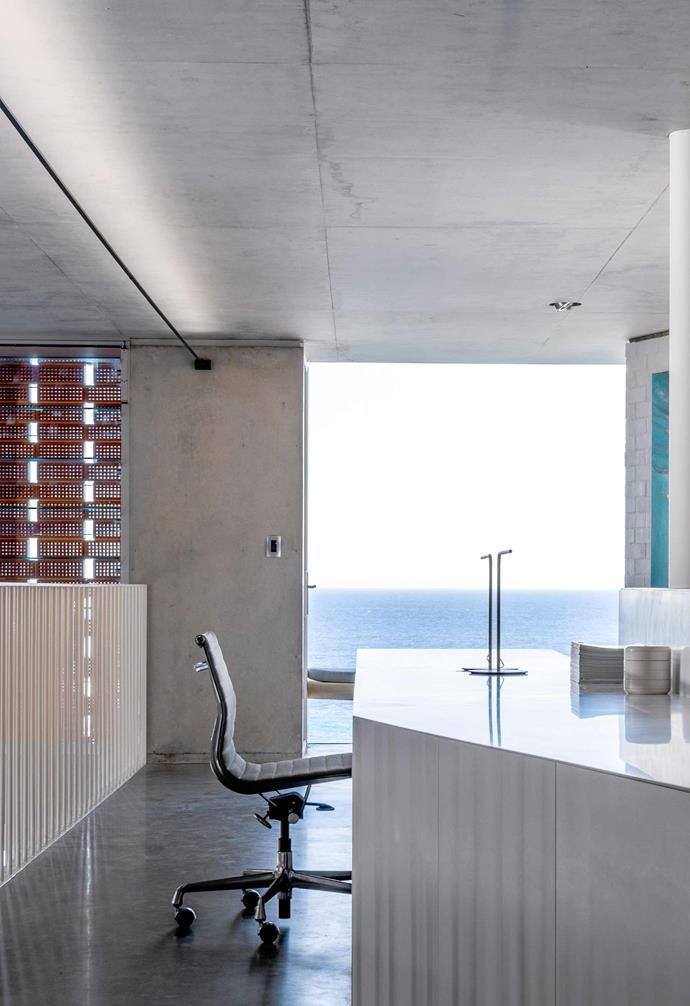 **Study** The hallway study capitalises on stunning ocean views.