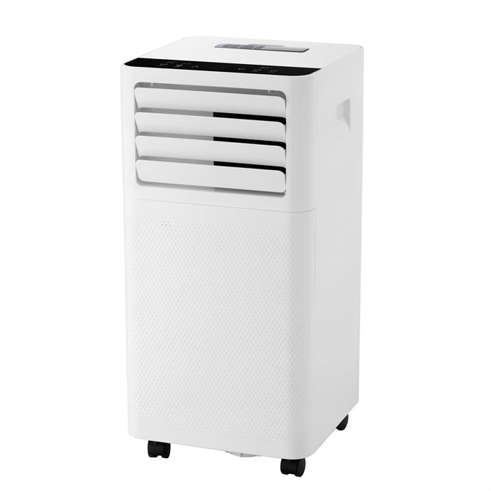 """This unit has the capability of cooling rooms of up to 20 meters squared with minimal noise and features an easy to use touch pad control panel.  <br><br> Arlec 10,000BTU portable air-conditioner with remote, $320, [Bunnings Warehouse](https://www.bunnings.com.au/arlec-10000-btu-portable-air-conditioner_p0110432