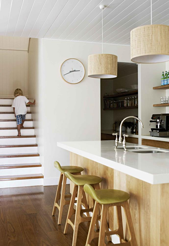 "In this [Byron Bay beach house](https://www.homestolove.com.au/byron-bay-beach-house-renovation-18716|target=""_blank"") the butler's pantry is hidden almost completely from view."