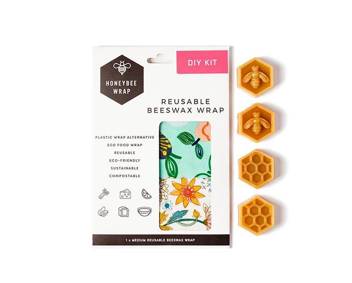 "Honeybee Wrap [Diy Kit](https://www.thefinderskeepersmarketplace.com/shop-directory/honeybee-wrap/products/diy-kit|target=""_blank""|rel=""nofollow"") , $22"