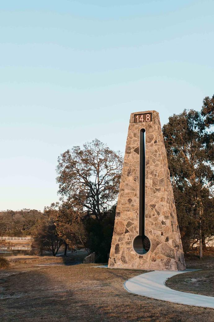 Stanthorpe's Big Thermometer is made of granite.