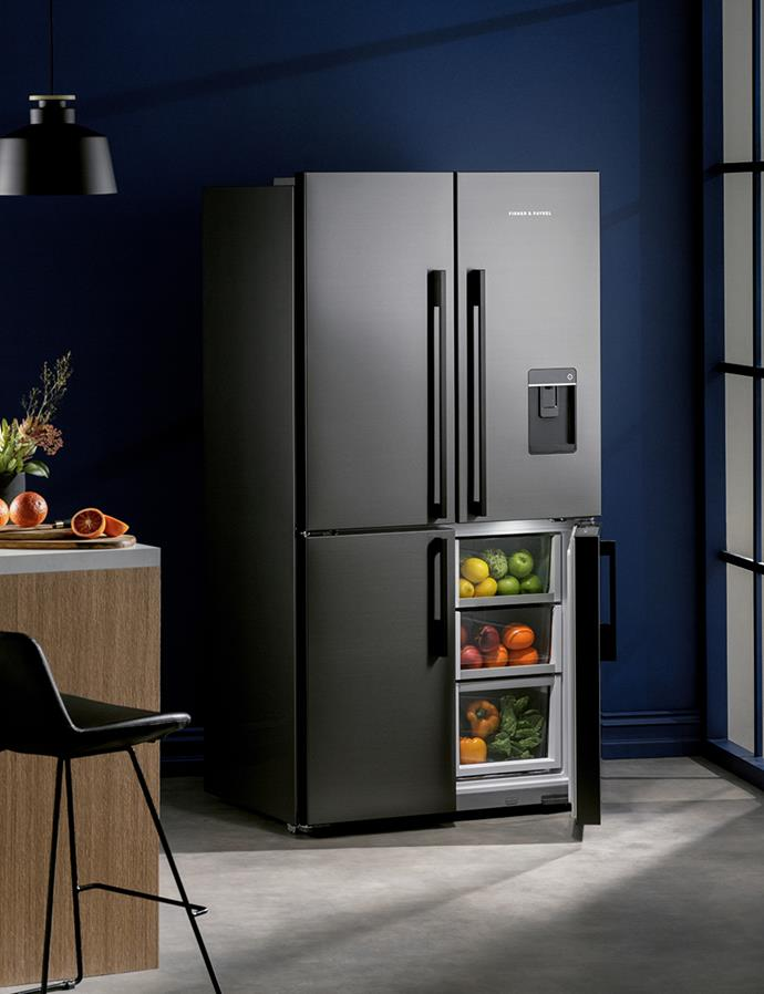 The Fisher & Paykel 605L Quad Door Fridge with Ice & Water dispenser provides a new level of cooling flexibility, with intelligent technology that adapts to your habits. Now that's cool. *$2,995 at Harvey Norman*