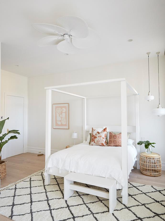 """**Andy and Deb's Guest Bedroom (After)** <br> """"To me it feels like a more confident, polished and grown-up version of this previous space,"""" said Neale. """"The whole house feels light, bright, and full of life and full of love,"""" he added."""