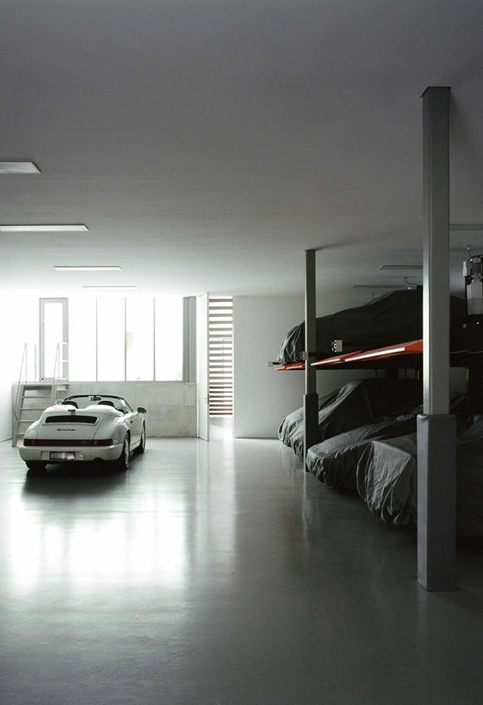 "**Garage** With the owners' passion for collecting classic sports cars, a generous [garage](https://www.homestolove.com.au/how-to-make-the-most-of-your-garage-4288|target=""_blank"") for safekeeping them was essential."