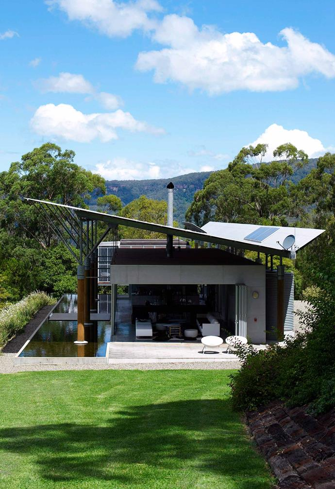 **Right angle** The twin roof of this home in Kangaroo Valley, NSW, maximises sun capture.