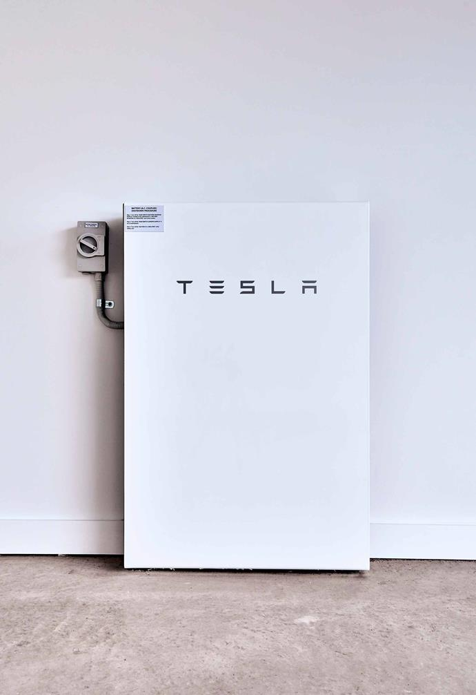 "The market for battery storage is continuing to grow. In this [contemporary family home](https://www.homestolove.com.au/my-ideal-house-tour-7089|target=""_blank"") a Tesla battery is housed in the garage."