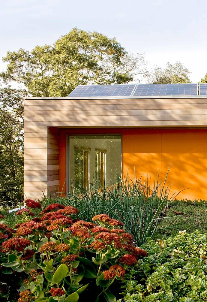 "Among its many green features, such as solar hot water and a living roof, this home has 2.5 kW of solar panels that generate more than 30 per cent of its energy. For more information, visit [Zero Energy](https://zeroenergy.com/|target=""_blank""