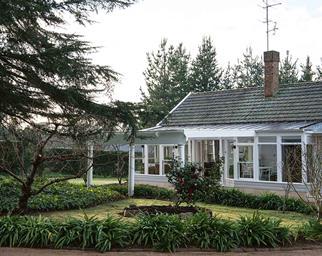 White cottage exterior