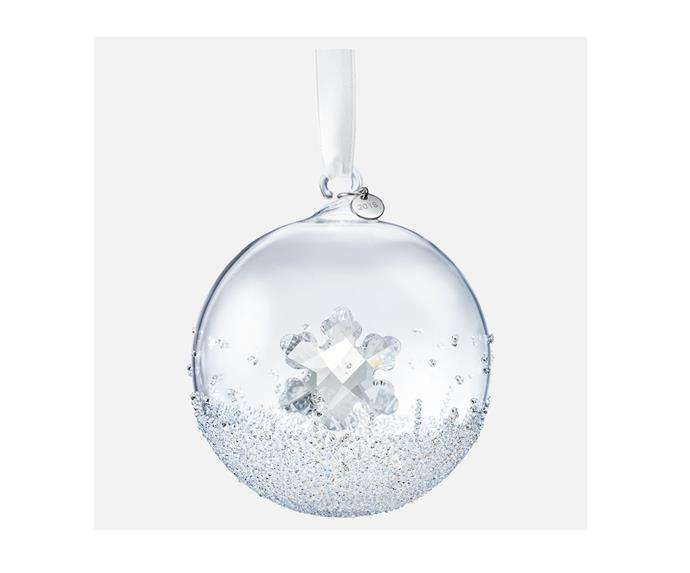 "Christmas ball ornament 2019, $129, from [Swarovski](https://www.swarovski.com/en_GB-AU/p-5453636/Christmas-Ball-Ornament-A-E-2019/#|target=""_blank""