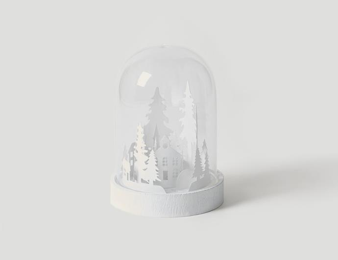 "LED glass Christmas scene globe, $39.90, from [Citta Design](https://www.cittadesign.com/house-home/christmas/ornaments/led-glass-christmas-scene-globe-mll0105|target=""_blank""