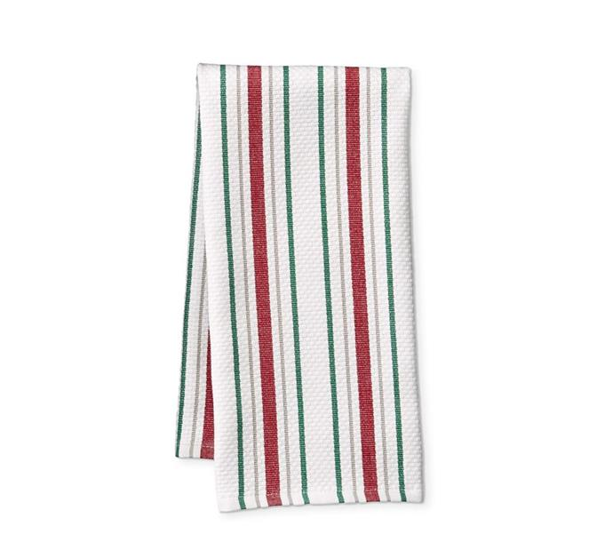 "Christmas stripe tea towels, $27/set of 2, from [Williams Sonoma](http://www.williams-sonoma.com.au/all-seasons-striped-towels|target=""_blank""
