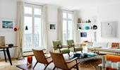A light-filled Paris apartment with eclectic furnishings
