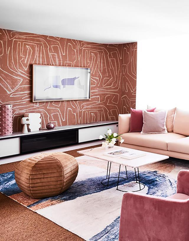 Strutt Studios collaborated with stylist Jono Fleming on his [parents' home renovation](https://www.homestolove.com.au/colourful-penthouse-apartment-with-personality-20466 which features a balanced mix of era-specific influences and eclectic details. Bold patterns and textures on walls and floor finishes bring character to the home.