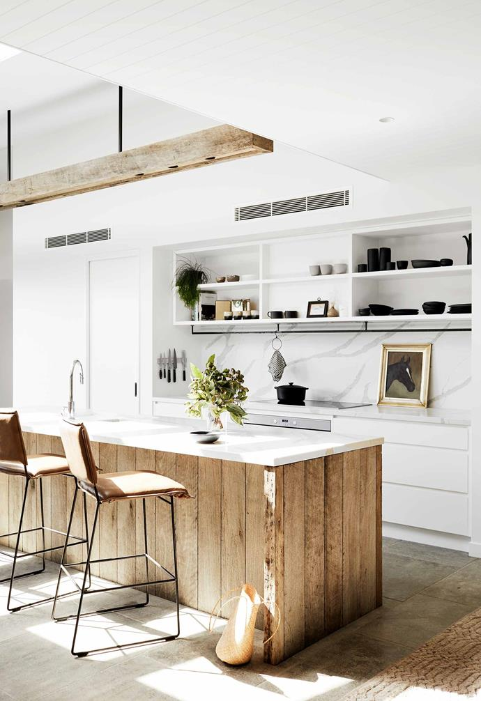 "**Kitchen** The hub of the home strikes a balance between earthy and polished, with Chalford limestone flooring from [Eco Outdoor](https://www.ecooutdoor.com.au/|target=""_blank""