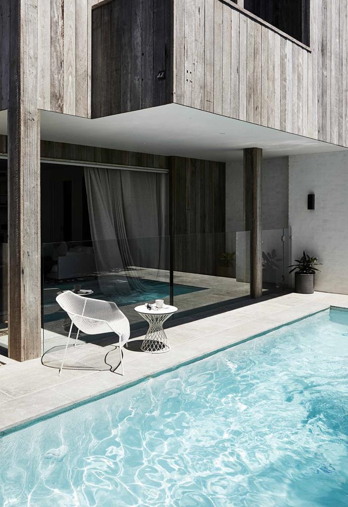 "**Pool** The Heaven chair and side table are from [Eco Outdoor](https://www.ecooutdoor.com.au/|target=""_blank""