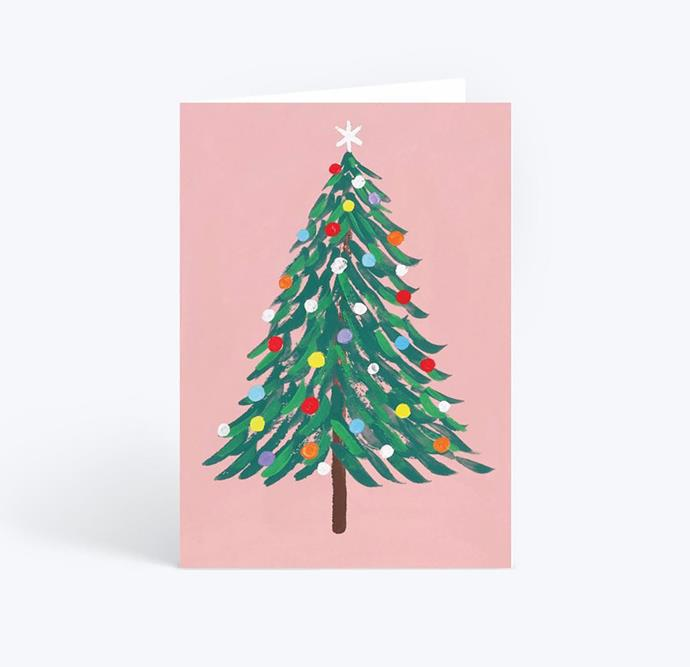 "Christmas baubles card, $59/10 pack, from [Papier](https://www.papier.com/au/christmas-baubles-7691|target=""_blank""