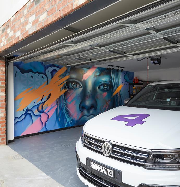 **Week 13, rooftop terrace, garage and redo rooms** El'ise and Matt even managed to deliver a gorgeous garage this week, commissioning London-based street artist Jerome Davenport to paint a mural across an entire wall to tie in with the rest of the art throughout their home.