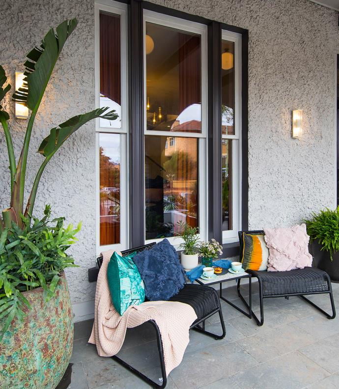 **Week 14, front gardens** With its large statement plants and colourful styling, the judges all agreed the front garden that Mitch and Mark created complemented their Palm Springs style home perfectly.