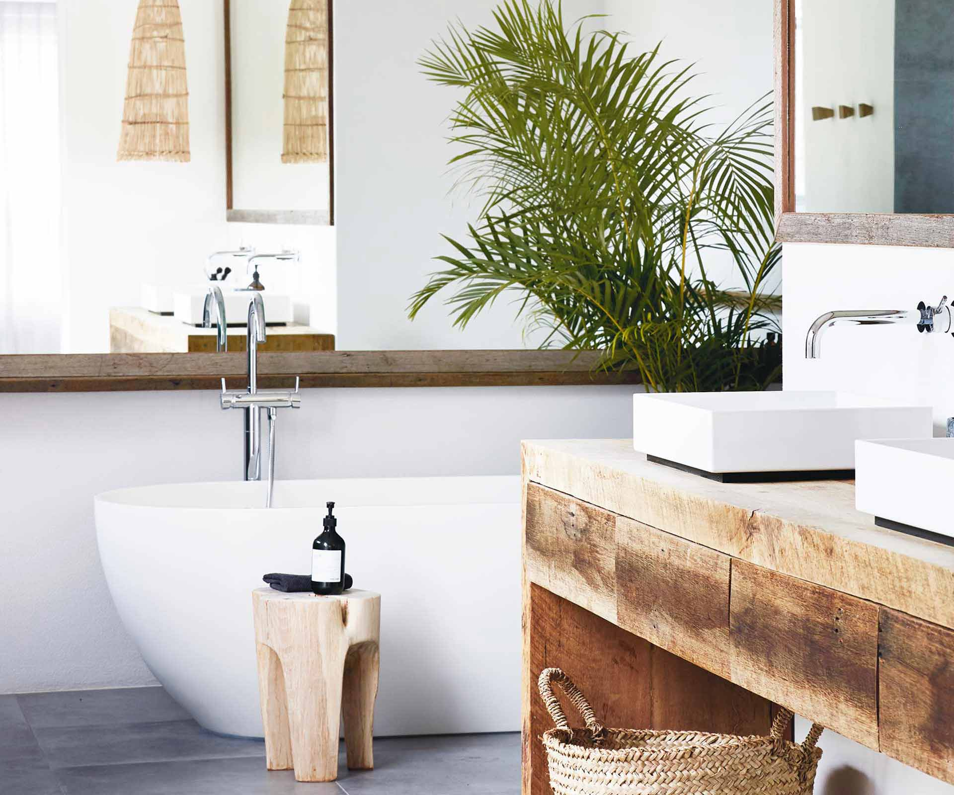 White and timber bathrooms to inspire your next build | Inside Out