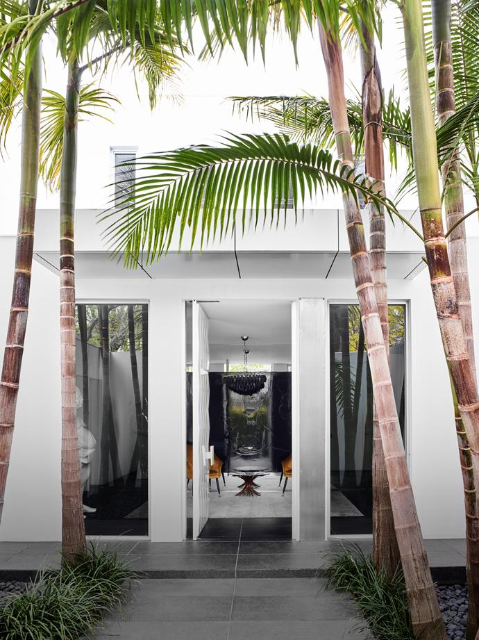 "Tall and thin with fans of strappy leaves up top, palm trees have a ubiquitous presence in this [Melbourne home](https://www.homestolove.com.au/contemporary-home-californian-appeal-20473|target=""_blank"") by interior designer David Hicks. Drawing on Californian inspirations, this house glows with a glamorous vibe that strikes a pose between ease and elegance."