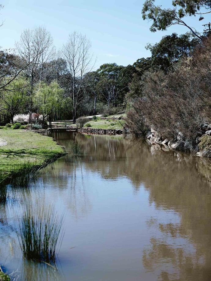 A picturesque creek runs through the property.