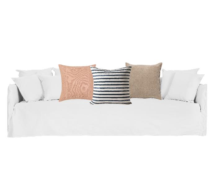 """Bronte 4-seat sofa in White Italian Linen, $2999,[Lounge Lovers](https://www.loungelovers.com.au/bronte-4-seat-sofa-white-italian-linen