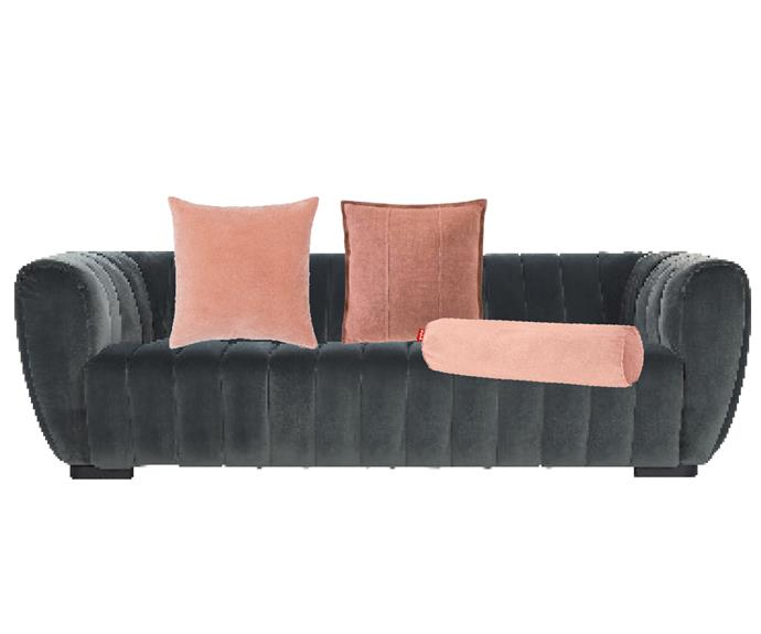 """Westwood sofa in Teal Velvet, $2995, [Coco Republic](https://www.cocorepublic.com.au/westwood-sofa-9845