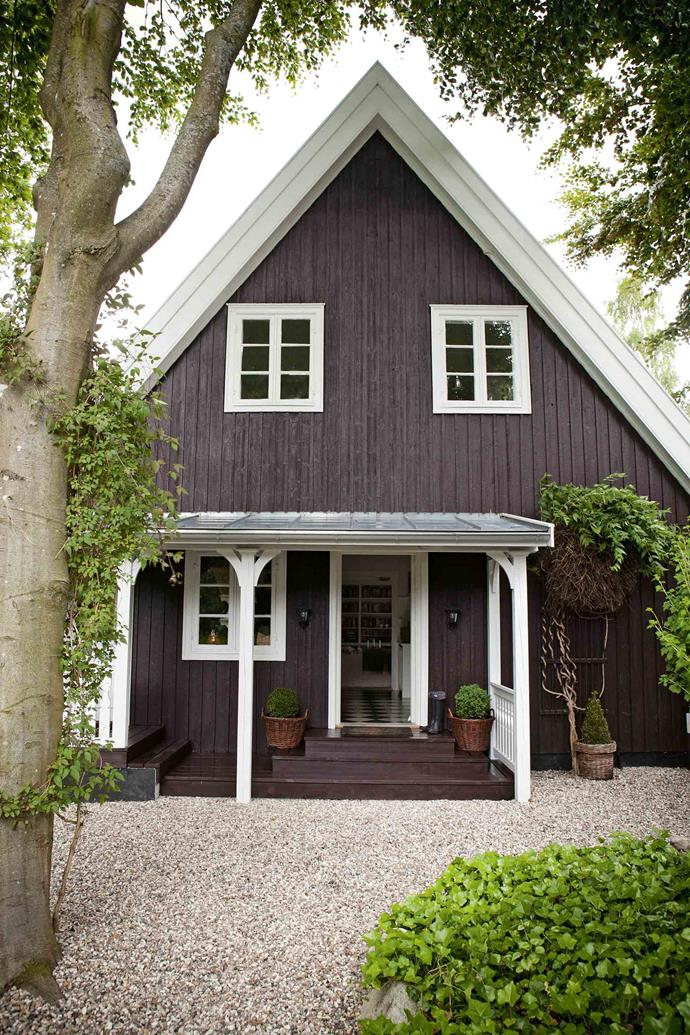 The steeply pitched roof is a common feature of Danish country houses.