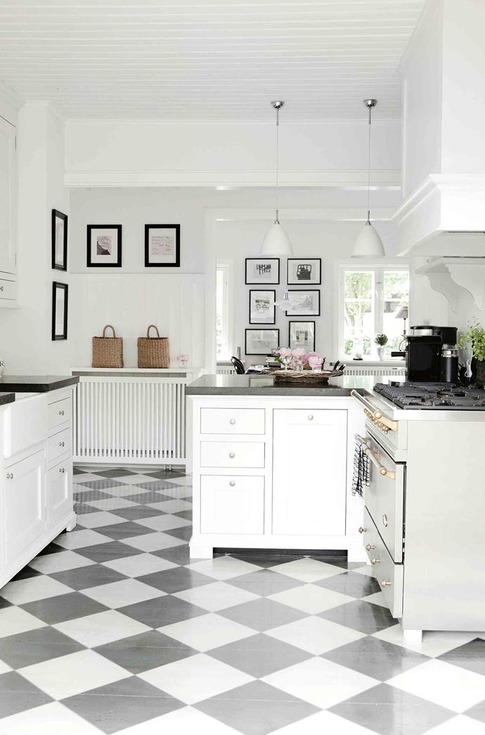 A vision of English country kitchens inspired the kitchen renovation.