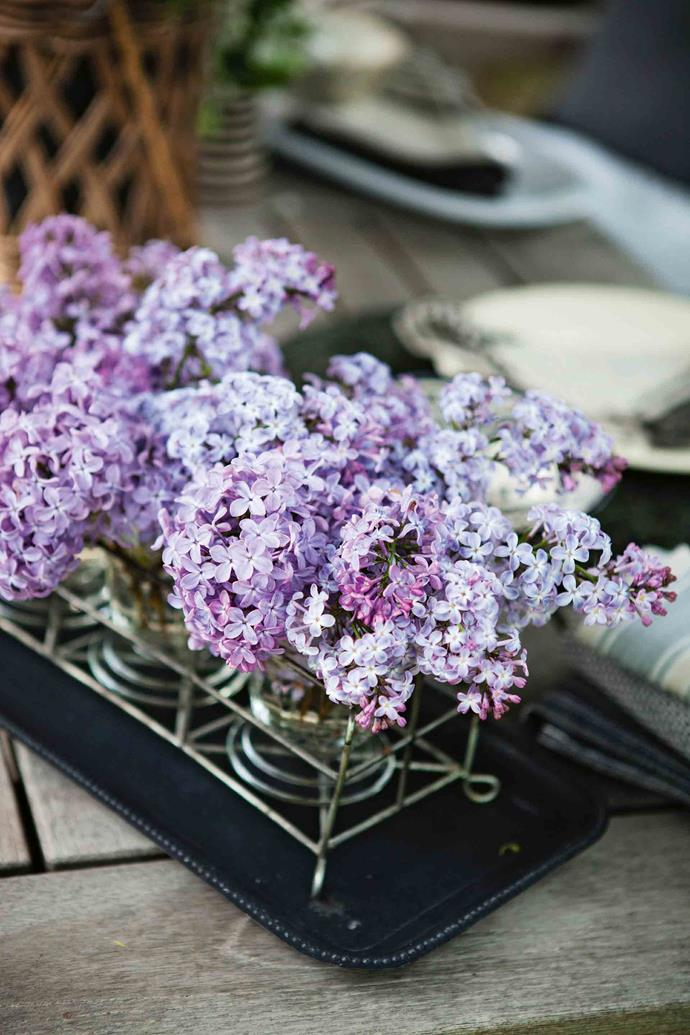 "Freshly picked lilacs — ""There's always something in bloom,"" Lotte says."