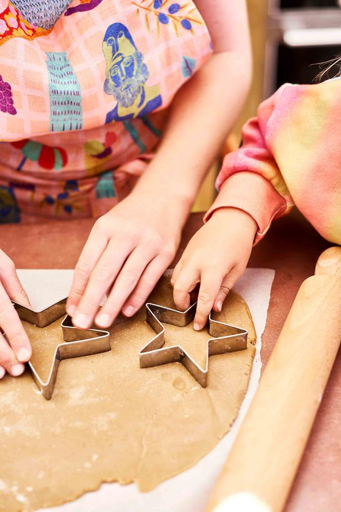 You'll need to draw a stencil for the larger stars, but smaller stars can be made with a standard cookie cutter.