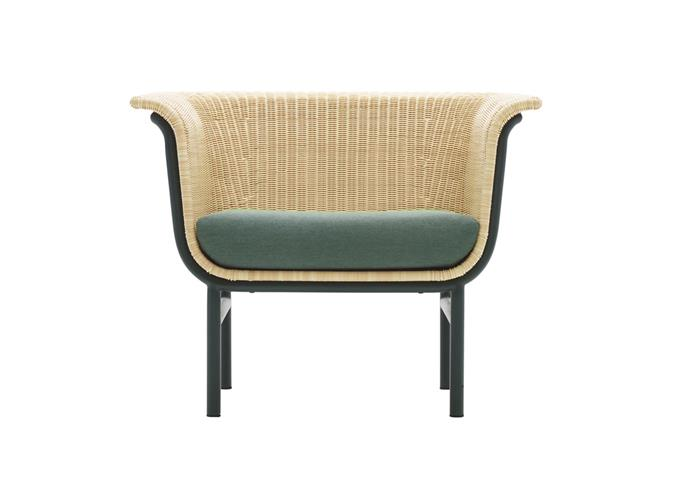 "Wicked polyethylene wicker and aluminium outdoor armchair, $1740, from [Cotswold InOut Furniture](https://cotswoldfurniture.com.au/en/product/wicked-lounge-chair|target=""_blank""