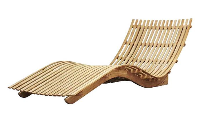 "Mykonos teak lounger, $2399, Interiors Online; from [interiorsonline.com.au](https://interiorsonline.com.au/collections/latest-products/products/mykonos-lounger|target=""_blank""