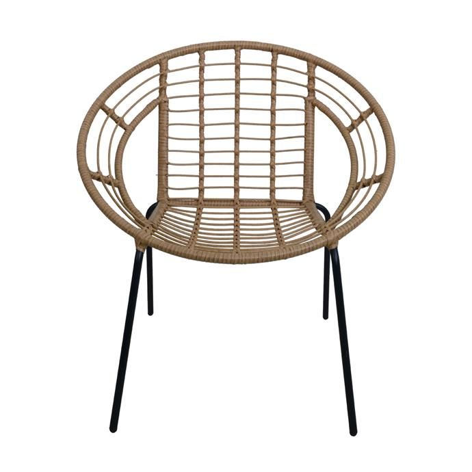 "Woven Lounge Chair, $45, [Kmart](https://www.kmart.com.au/product/lounge-chair-woven/2688328|target=""_blank""