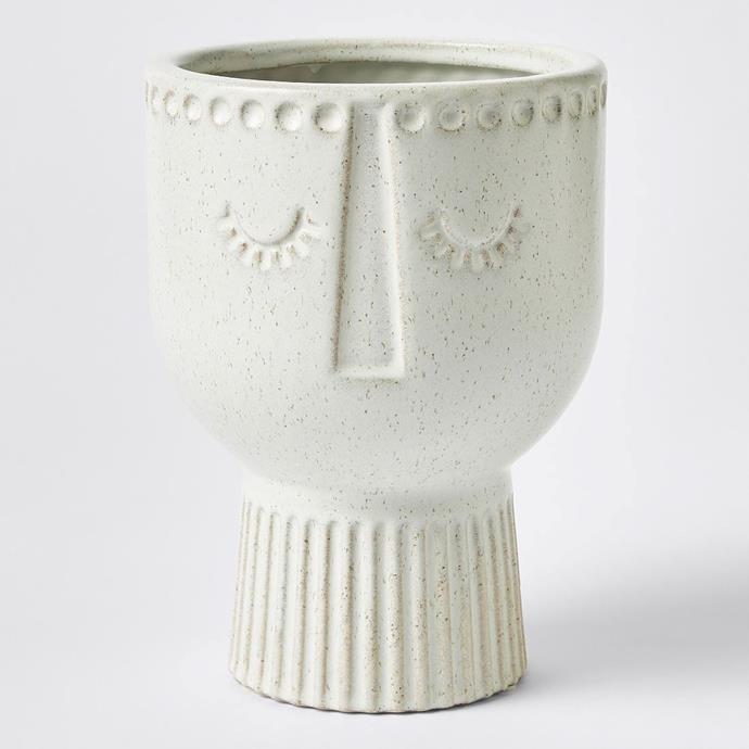 "Medium Adina Face Planter Pot, $25, [Target](https://www.target.com.au/p/medium-adina-face-planter-pot/62808293|target=""_blank""|rel=""nofollow"")"