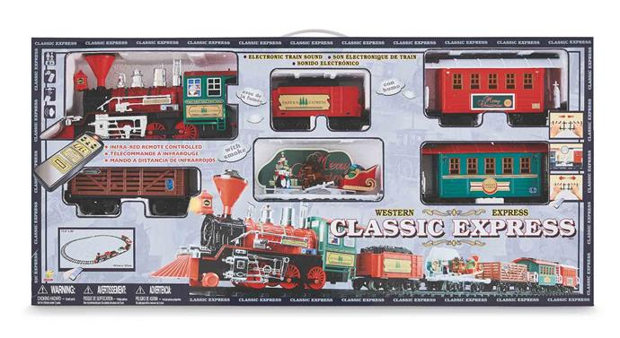 Infrared remote-controlled Santa Express **train set** (45 piece set), $69.99.
